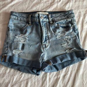 High Rise Super Stretch Shortie Shorts